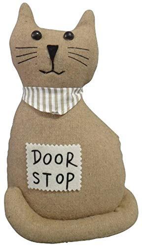elbmöbel Türstopper Kissen Doorstop Füllung Sand (Katze beige) -