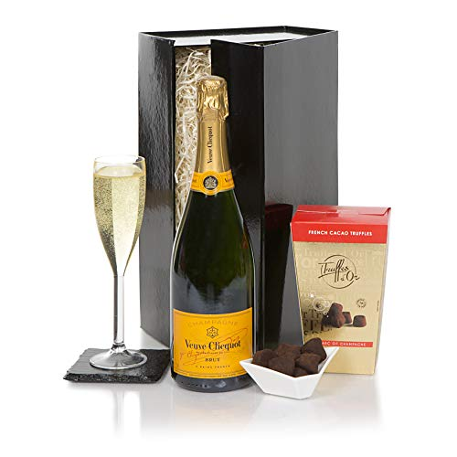 Veuve Clicquot Champagne & Chocolate Truffles Gift Set - Ultimate Luxury Champagne & Chocolates Gift - UK Hampers With Champagne