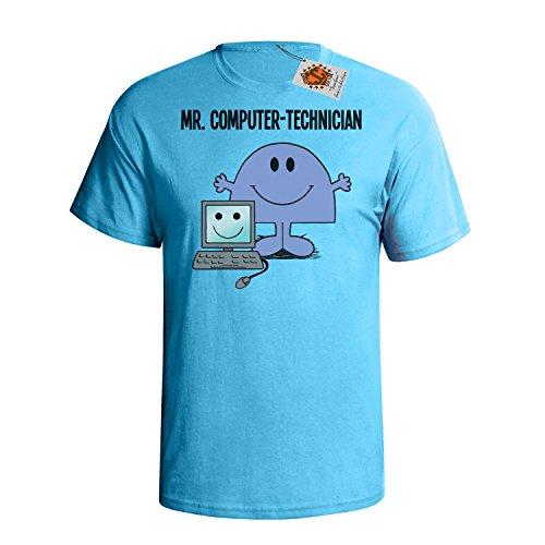 `Mr Computer Technician` mens herren Hobbies / Berufe perfect gift t shirt Himmel Blau