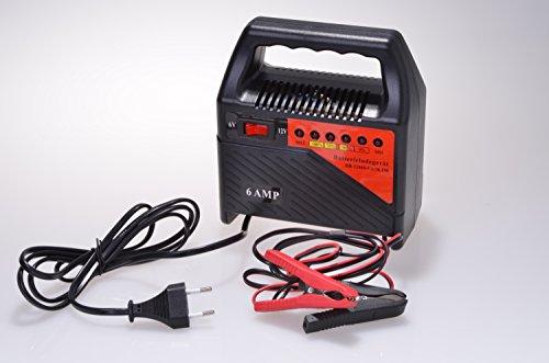 Batterieladegerät 6 & 12 Volt für Auto,-Motorrad,-Rasenmäher und Boot Batterien