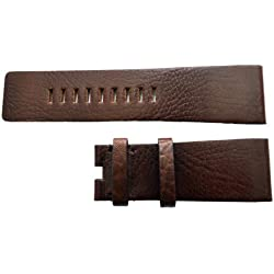 27mm wide Brown ZRC Leather Watch Strap to fit Fashion Watch BUCKLE NOT INCLUDED