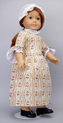 Colonial Rose Garden Meet Dress Gown Outfit Fits American Girl 18 Doll Felicity Elizabeth by AllYourDollNeeds