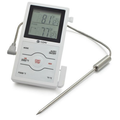 CDN DSP1 Dual Sensing Probe Thermometer and Timer by CDN -