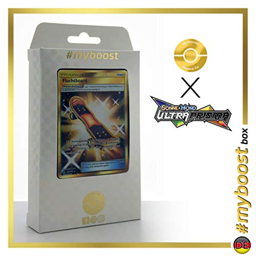 Fluchtboard (Escapatín) 167/156 Entrenadore Secreta - #myboost X Sonne & Mond 5 Ultra-Prisma - Box de 10 Cartas Pokémon Aleman