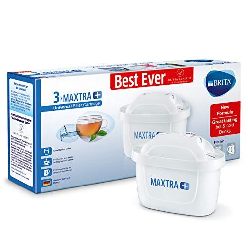 Brita Maxtra + Cartouches pour filtre à eau, Blanc, Plastique, blanc, Lot de 3