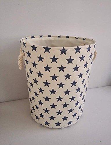 crema-star-tela-cesto-portaoggetti-alta-qualita-cestino-per-uso-domestico-con-stelle-blu-40-cms-diam