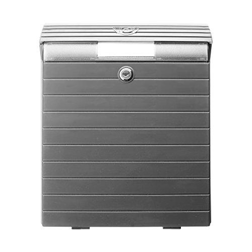 0043009 - Briefkasten, grau-metallisiert