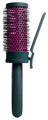 Titania Sèche-cheveux Brosse ronde, diamètre Env. 5.6 cm avec clip, Noir/Violet, 1er Pack (1 x 116 g)