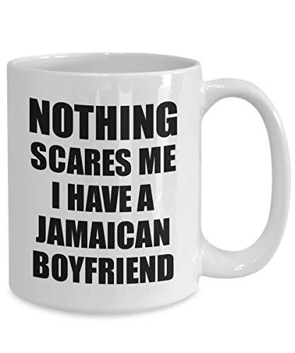 FloradeSweet Jamaikanischer Freund-Becher-lustiges Valentinsgru?-Geschenk f¨¹r GF Meine Freundin Ihr M?dchen-Jamaika-Bf-Gag Nichts erschrickt Mich Kaffee-Tee-Schale - Jamaika-geschenk-set