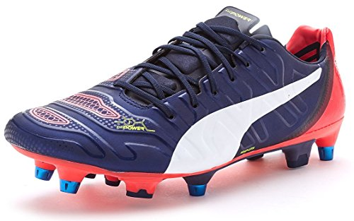 Puma Evopower 1.2 Mixed Sg, Chaussures de football homme Bleu