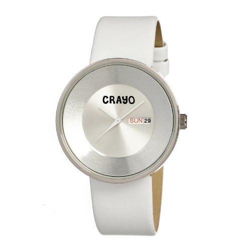 crayo-cracr0208-orologio-da-polso-cinturino-in-pelle-colore-bianco
