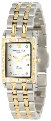 Raymond Weil Femme 5971-SPS-00995 Tango Rectangulaire Deux-Tons 40 Diamants Montre