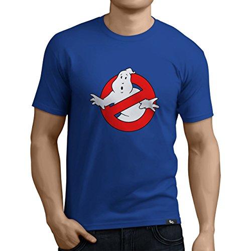 Tuning Camisetas - Camiseta Divertida para Hombre - Modelo Cazafantasmas, Color Azul- Talla L (0290-Azul-Caza-fantasmas-L)