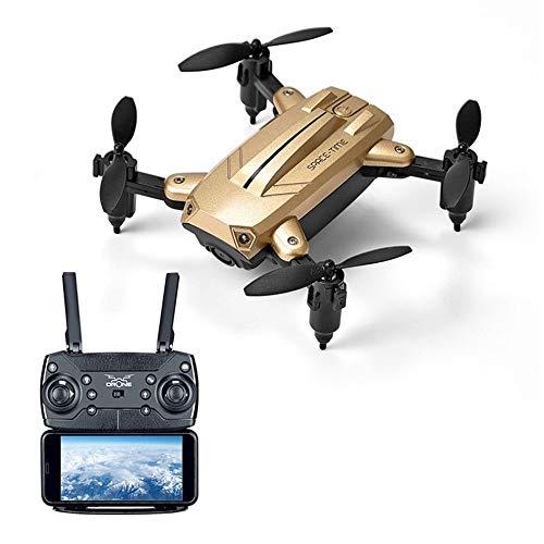 droni ky301 2.4ghz mini pieghevole quad axis wifi trasmissione in tempo reale 1080p hd camera altezza mantenere la modalità senza testa 3d flip quadcopter,gold