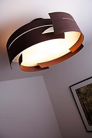 plafoniera metallo marrone circolare design moderno illuminazione. Black Bedroom Furniture Sets. Home Design Ideas