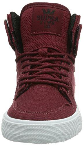 Supra - Sneaker, Unisex - bambino Rosso (Rot (BURGUNDY - WHITE BRG))