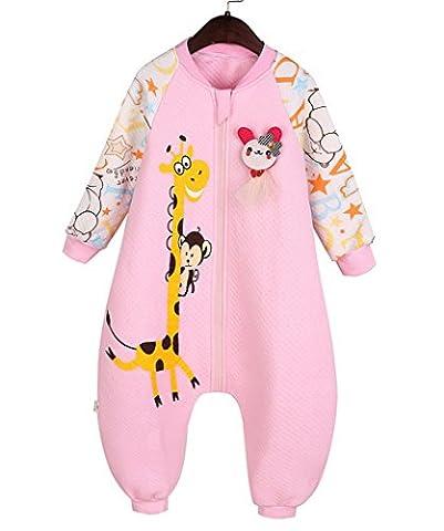Pyjama Grenouillere Girafe - Happy Cherry 2 en 1 Pyjama Grenouillères