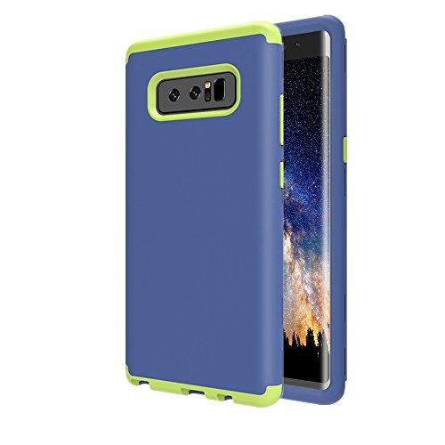 Galaxy Note 8Case, aoker Drei Schicht Heavy Duty High Impact Resistant Hybrid Hartschale Schutzhülle und Weichem Silikon Slim Fit Best Defender Schutzhülle für Samsung Galaxy Note 8(2017), Navy
