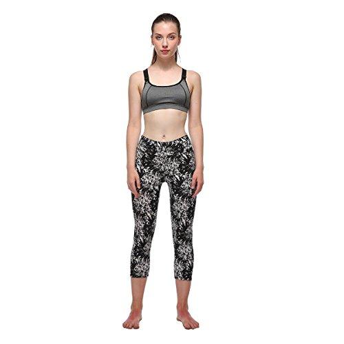 Fliegend Leggings Mujer 3/4 Impresión Pantalones de Yoga Cintura Alta Mallas Push Up Fitness Leggins Elásticas Pantalones Deportivos