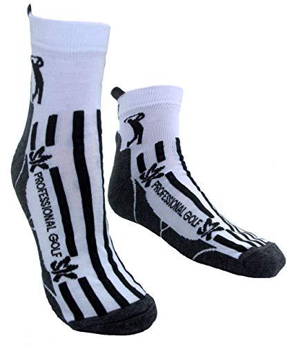 Sportswear Kingdom Golfsocken Golfstrümpfe Augusta Sportsocken Damen Herren Kinder (weiß, 43-47)