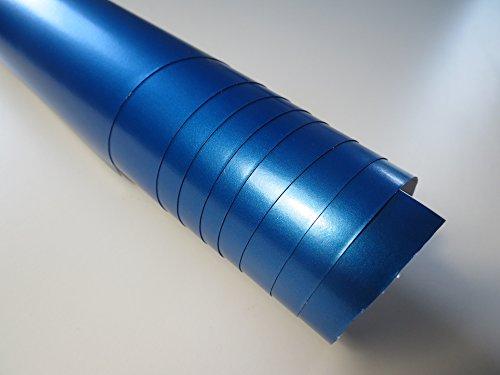 Preisvergleich Produktbild 100x152cm Airless Blau Metallic Flexi Autofolie car wrapping GRATIS Montageanleitung 4,99€/1qm