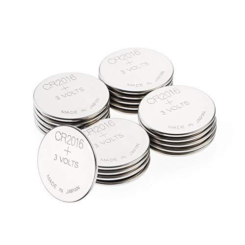 GP Batterien CR2016 3v Lithium Knopfzellen CR 2016 (3 Volt) 20 Stück Knopfbatterien für verschiedenste Geräte- und Verbraucheranwendungen (Batterien einzeln entnehmbar)