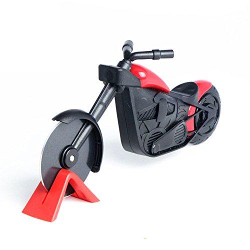 Henreal Motorrad Pizza Cutter Rad Edelstahl Kunststoff Motorrad Roller Pizza Chopper Slicer