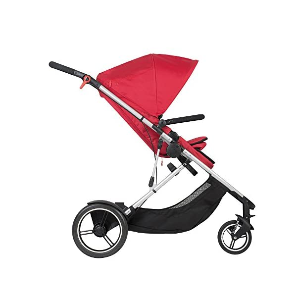 "phil&teds Voyager Buggy Pushchair, Red phil&teds 4-in-1 modular seat Modes include parent facing, forward facing, lie flat & lie flat off the buggy 12"" aeromax puncture free wheels 3"