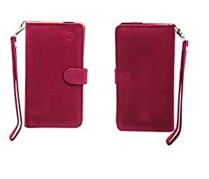 Jo Jo A9 Anya Leather Carry Case Cover Pouch Wallet Case For Obi Worldphone SJ1.5 Exotic Pink