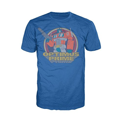 Transformers Prime Circle Vintage Official Men's T-Shirt (Royal Blue) (Large)