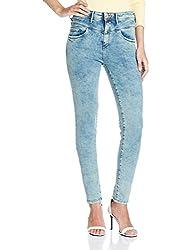 Allen Solly Womens Skinny Jeans (AWDN316C05696_Medium Blue Solid_26)