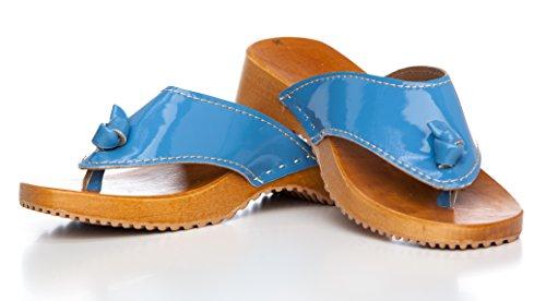 BUR Clogs , Tongs pour femme Bleu - Hellblau
