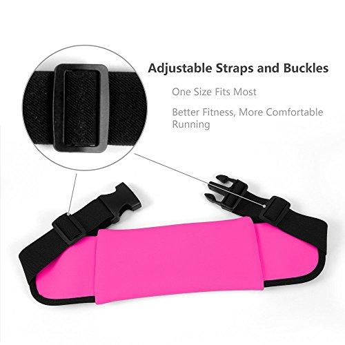 AuBer-Correr-Bolsa-de-Cintura-Impermeable-Resistente-al-Sudor-Runner-Cintura-Pack-Rionera-Fitness-Cinturn-Rionera-Dinero-Cinturn-Corredores-Bolsa-Para-Deportes-Cinturn-de-Senderismo-Con-2-bolsillos-la