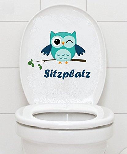 WC Aufkleber Sitzplatz Eule - Toilette Badezimmer Bad Toiletten Fliesen A040 Folie Deckel