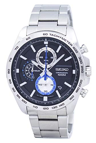 Seiko Analog Black Dial Men's Watch - SSB257P1