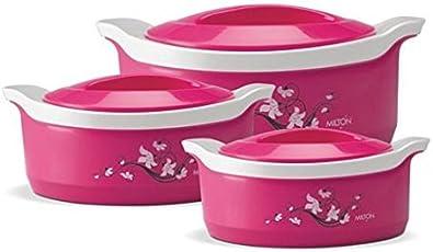 Milton Marvel Jr. Gift Casserole Set of 3 Pcs, Pink MLT 121