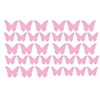 Pack of 35 Vinyl Butterfly Butterflies Stickers Car Bike Scooter Helmet Decal Laptop Decorative Window Various Colours