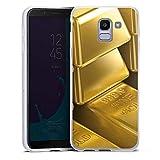 DeinDesign Silikon Hülle kompatibel mit Samsung Galaxy J6 Duos 2018 Case Schutzhülle Goldbarren Gold Barren