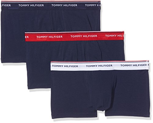 Tommy Hilfiger Herren Hüft-Shorts 3p Lr Trunk, 3er Pack, Mehrfarbig (Multi / Peacoat 904), Medium