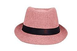 ZachariasMens & Women Fedora Hat (Peach)