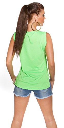 KouCla - Débardeur - Femme Vert - Vert fluo