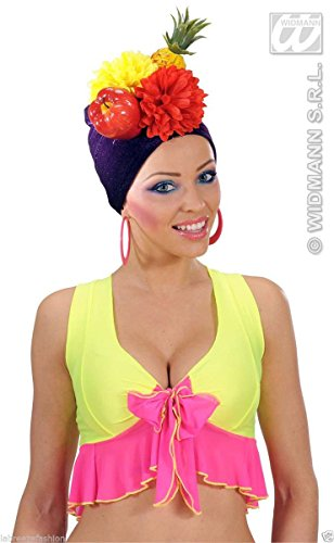 Miranda Kostüm Carmen - GCC Fashion Store Ladies Carmen Miranda Hat Brazil Fruit Hat Turban Movie Fancy Dress Hat (Multicolour)