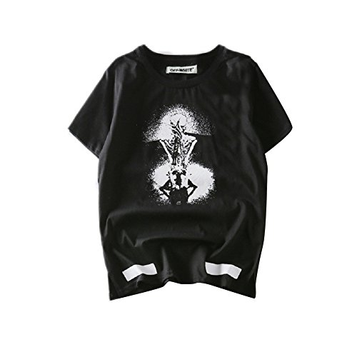 BOMOVO Herren OFF WHITE T-Shirt VALUE T M L XL XXL Schwarz