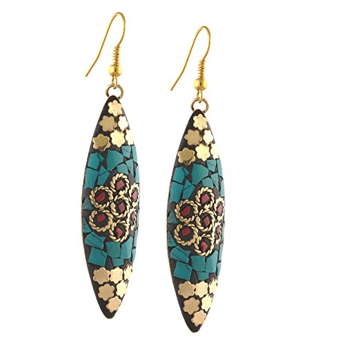 Zephyrr Fashion Lightweight Tibetan Hook Dangler Earrings For Girls and Women