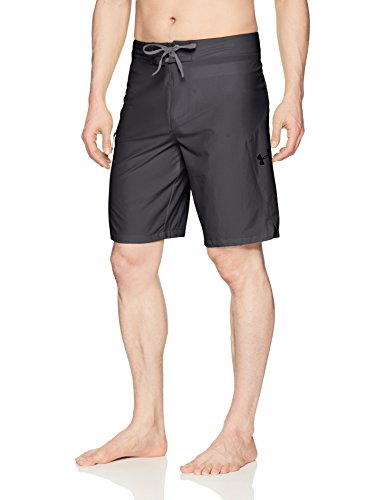Under Armour Herren Stretch Boardshorts, Herren, Anthracite (016)/Black, 32 (Underarmour Herren Badehose)