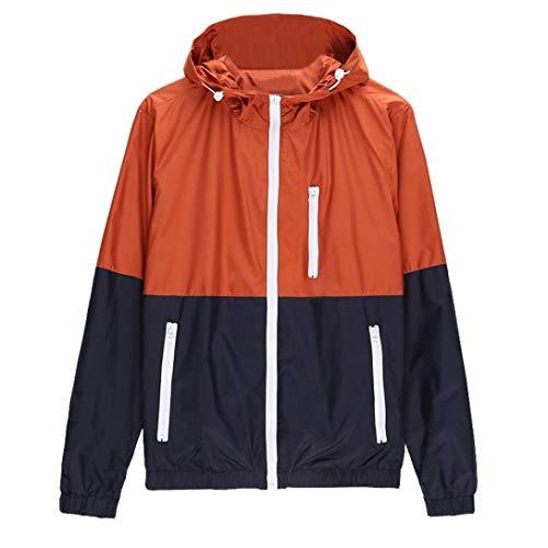Honestyi Jacken, Mäntel & T-Shirt Herren Jacken Sport Mantel Windbrecher Mens Casual Jacket Outdoor Sport Bekleidung Windbrecher Leichtbau...