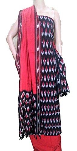 RIAA Collection Women's Ethnic IKKAT Salwar Kameez Handloom Cotton Dress Material- (RIAA-...