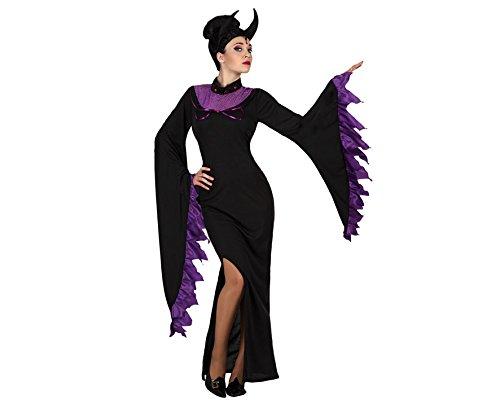 Atosa 18723–costume da regina dei inferno, misura xl, nero/lilla