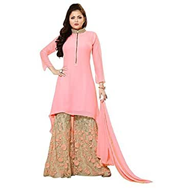 StarMart Georgette & Net Palazzo Dress Material Salwar Kameez SM70007