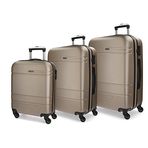Movom Matrix Juegos de maletas, 79 cm, 221 litros, Beige